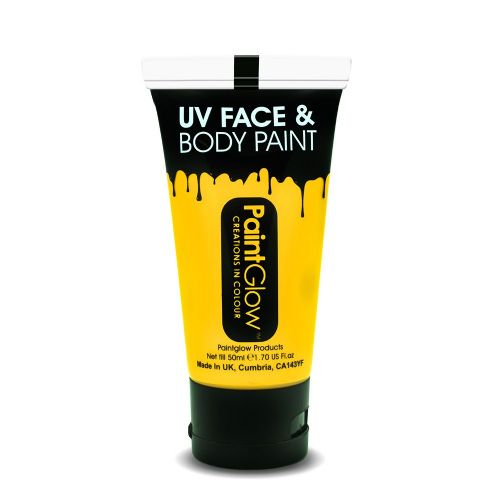 Intense Yellow - Neon UV Face & Body Paint Large